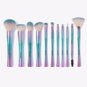 Synthetic 11 piece makeup brush set - fantasy