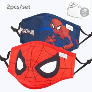 Boys Spiderman Face Mask Set of 2