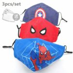 Boys Spiderman Face Mask Set of 3