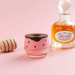 Strawberry Bee Lip Balm with sweet honey bottle